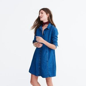 Madewell chambray a line dress